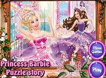 Puzzle cu Barbie