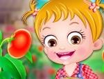 Bebelusa Hazel planteaza rosii