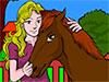 Coloreaza Fata si Calul