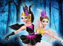 Elsa si Anna lacul lebedelor