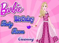 Barbie pregateste camera pentru petrecere