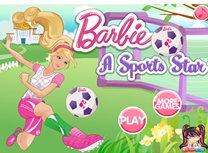 Barbie joaca fotbal