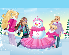 Barbie si Surorile fac oameni de zapada