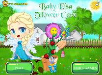 Bebelusa Elsa si Florile