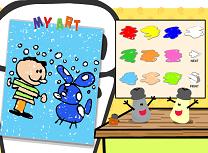 Catelul Blue Clue de Colorat