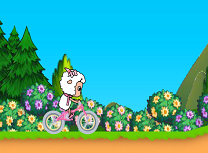 Oita pe Bicicleta aduna fructe