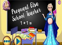 Elsa este profesoara insarcinata