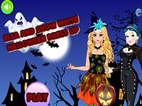 Elsa si Alba ca zapada de Halloween