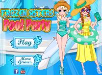 Petrecere la piscina cu Elsa si Anna
