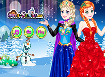 Anna si Elsa de imbracat