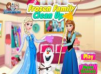 Personajele Frozen fac curatenie