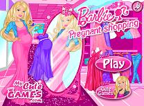 Barbie Gravida merge la shopping