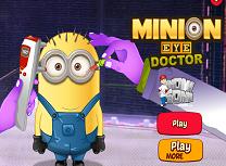 Minionul la doctor din cauza ochilor