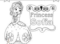 Printesa Sofia I de colorat