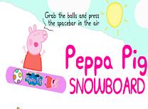 Purcelusa Peppa se da cu snowboardul