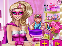 Super Barbie si camera de cosmetice